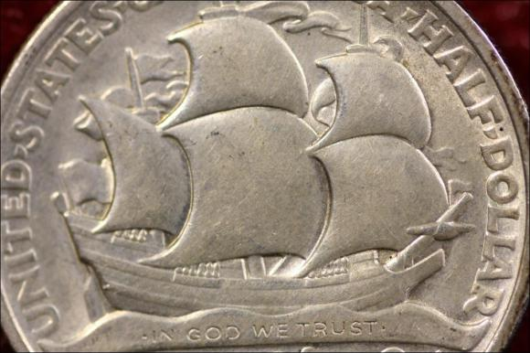 1936 - LONG ISLAND TERCENTENARY - PÓŁ DOLARA AM.