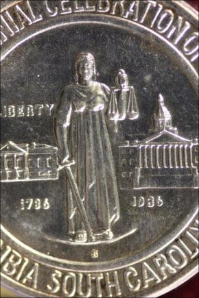 1936 - COLUMBIA S.C. SESQUICENTENNIAL PÓŁ DOLARA AM.