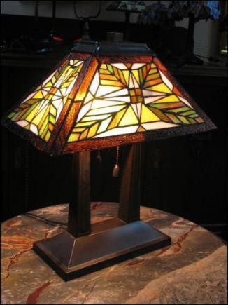 LAMPA WITRAŻOWA TIFFANY 50CM