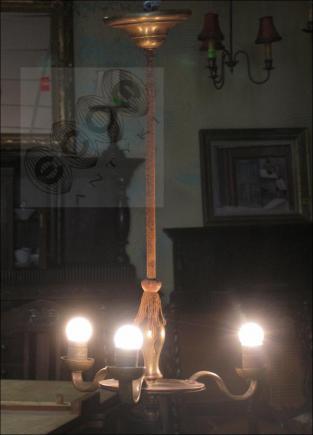 LAMPA WISZĄCA TRÓJRAMIENNA (k)