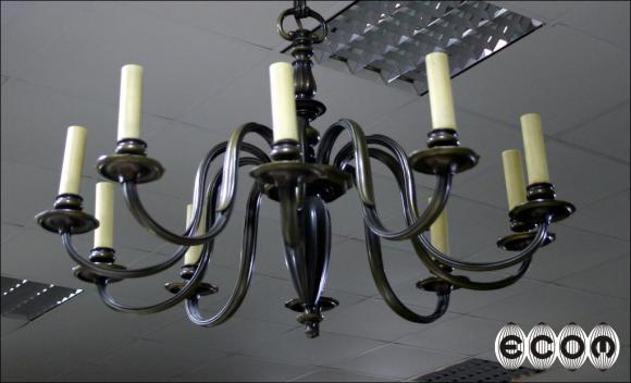 DZIESIĘCIORAMIENNA LAMPA WISZĄCA