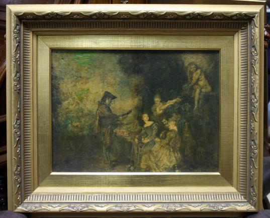 OBRAZ - REPRODUKCJA / lekcje miłości / Antoine Watteau
