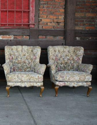 2 FOTELE CHIPPENDALE