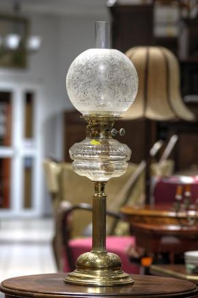 DUŻA KOLUMNOWA LAMPA NAFTOWA