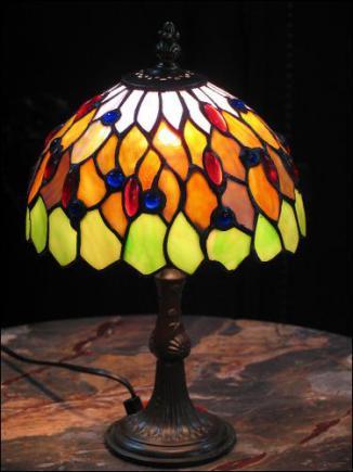 LAMPA WITRAŻOWA TIFFANY 32 cm