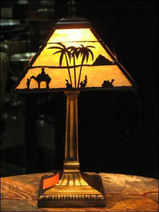 LAMPA WITRAŻOWA TIFFANY 35 CM - TAJEMNICZY  EGIPT