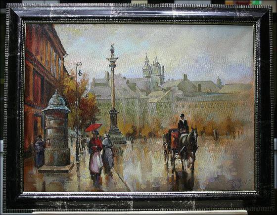 STARA WARSZAWA - PLAC ZAMKOWY - J. GELL