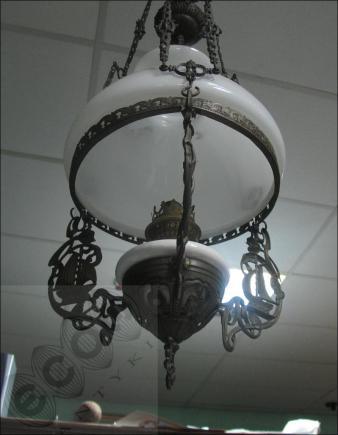 LAMPA NAFTOWA Z OKRESU MIĘDZYWOJENNEGO